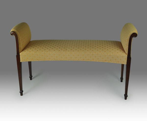 Pleasant Georgian Mahogany Window Seat Christopher Buck Antiques Machost Co Dining Chair Design Ideas Machostcouk