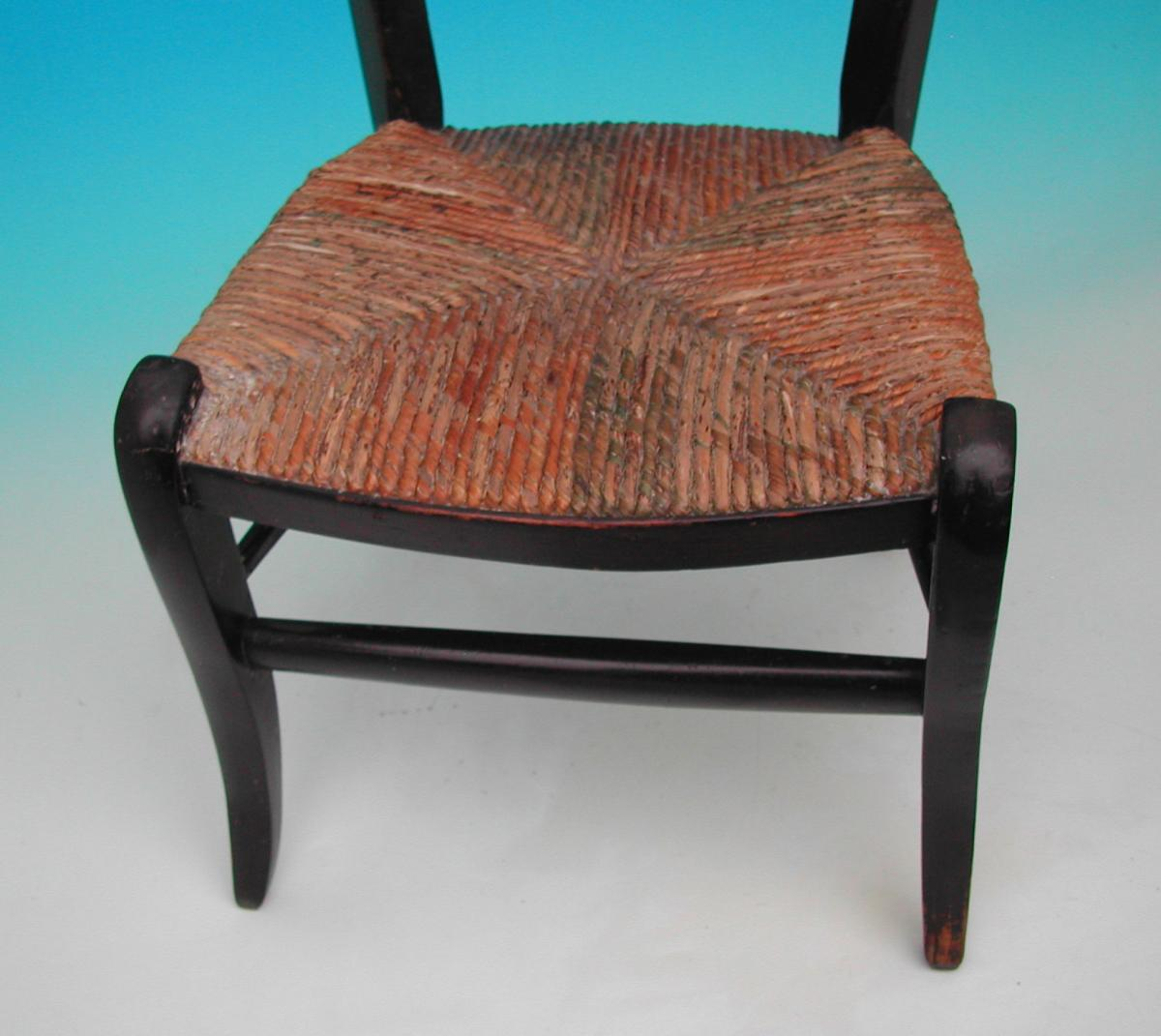 Exceptionnel Antique Regency Furniture 19thc Painted Childs Chair (c. 1820 To C. 1830  English)
