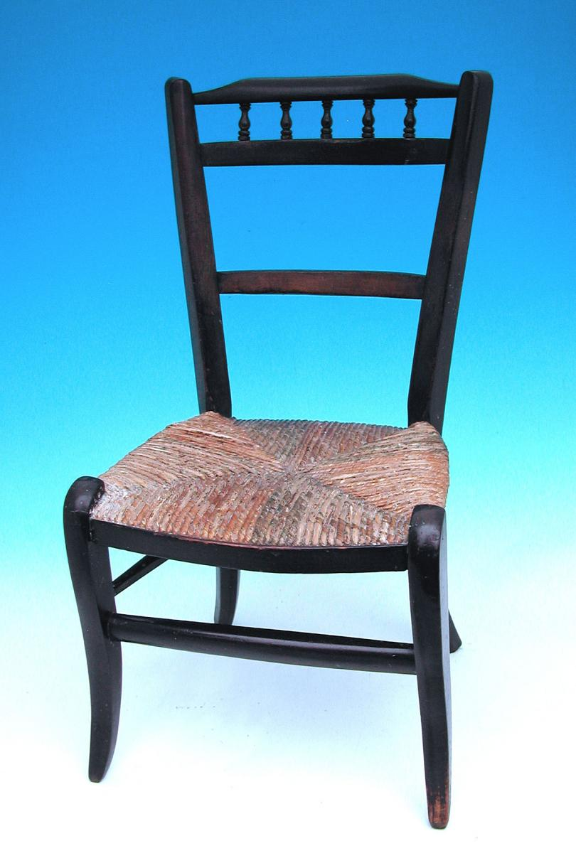 Antique Regency Furniture 19thc Painted Childs Chair (c. 1820 To C. 1830  English)