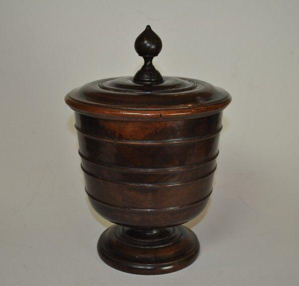 17th Century Lignum Treen Wassail Bowl