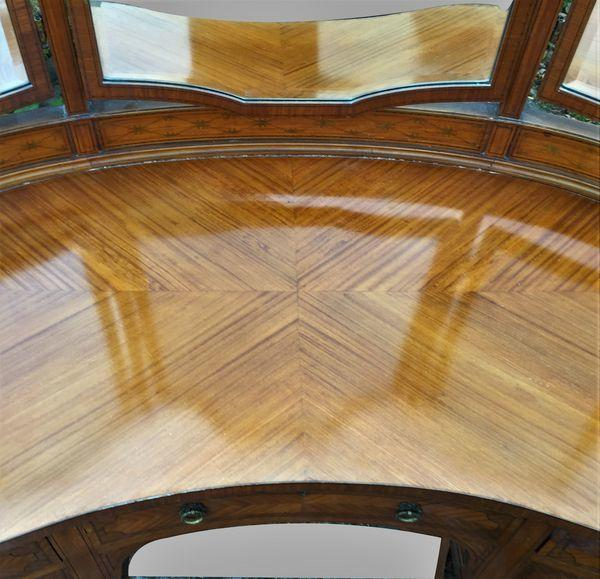 Edwardian Satinwood Kidney shape Dressing Table