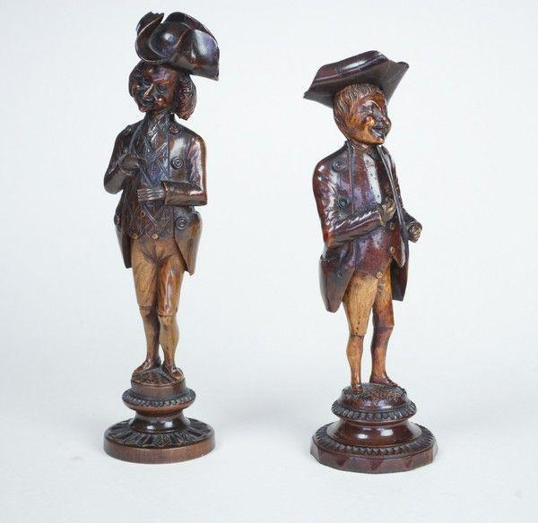 Folk Art Treen Nutcrackers