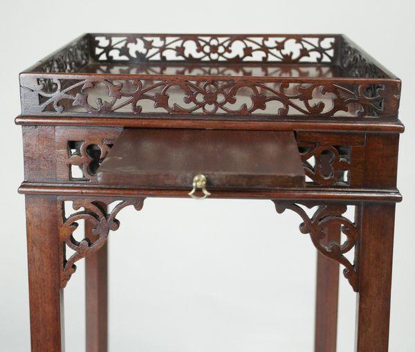 Georgian mahogany open-fret Urn Stand