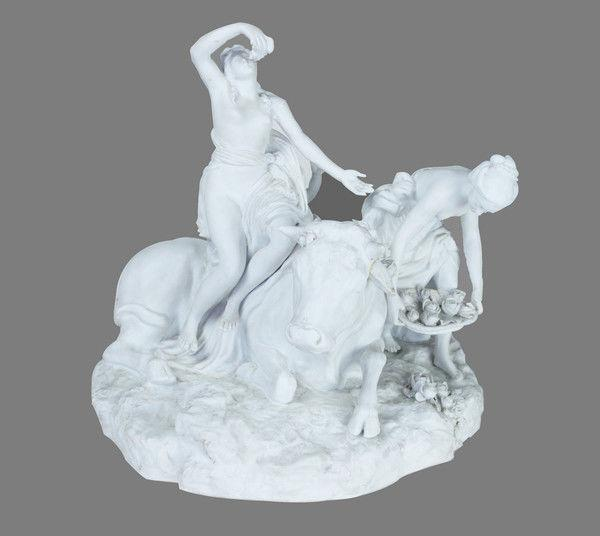 "Large Parianware Group """"Abduction of Europa by Zeus as a Bull"""""