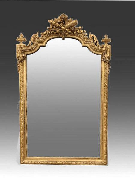 late 19th Century Large ornate gilt Mirror