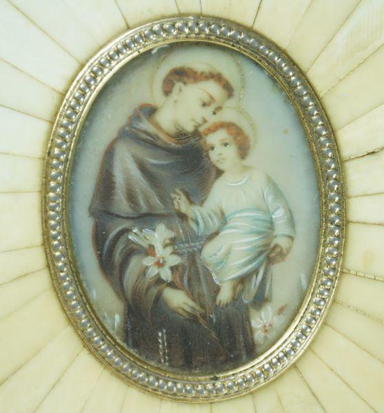 Painted miniature of Saint Anthony and Christ Child