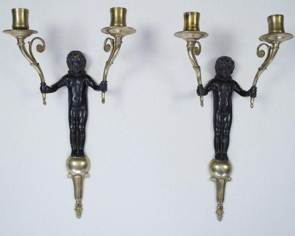 Pair of gilt wall lights