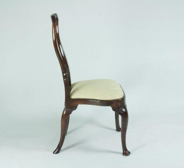 Pair of Walnut Side Chairs