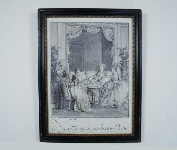 Set of 4 French interior prints