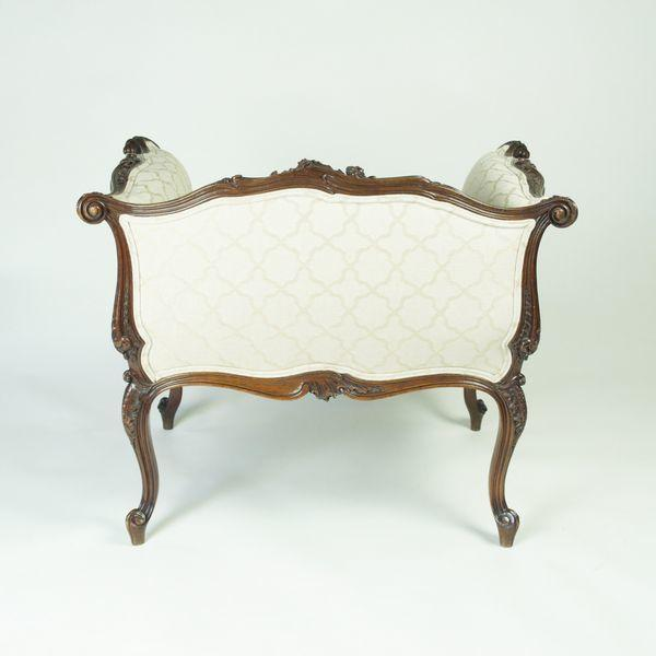 Unusual carved Window Seat/Dressing Table Stool/Chair