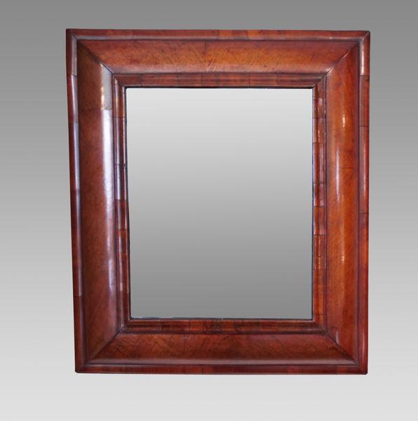 Walnut Cushion Frame Mirror