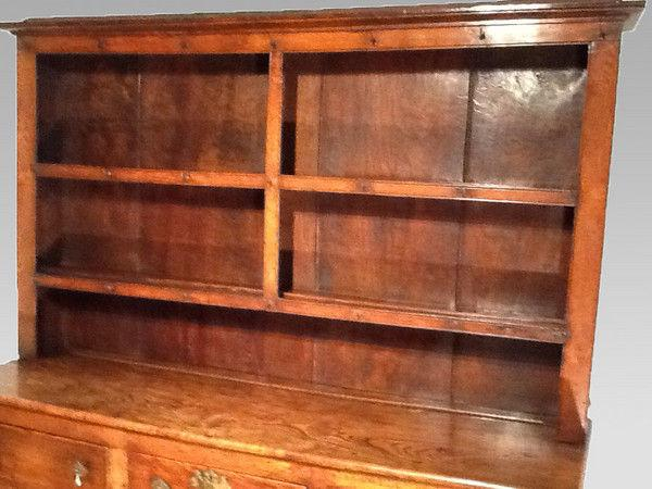18th Century Elm Dresser and rack