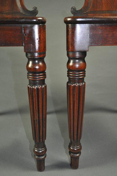 A fine pair of Regency Hall Chairs