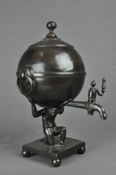 Bronze Samovar depicting Atlas