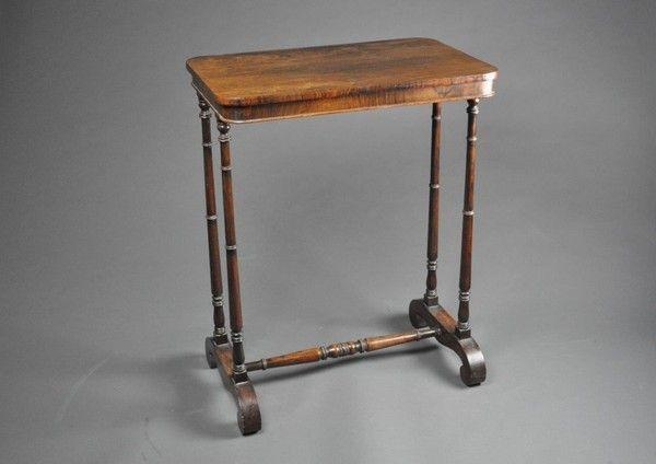 Early 19th century rosewood end support occasional table