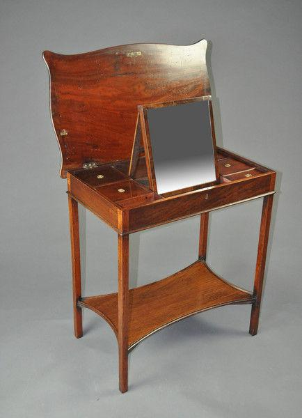 George III period Mahogany Dressing Table
