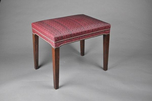 Georgian mahhogany rectangular Stool