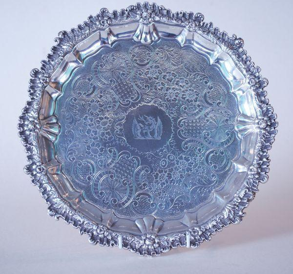 Georgian silver salver/tray/waiter