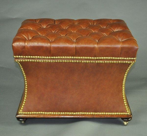Leather Box Stool