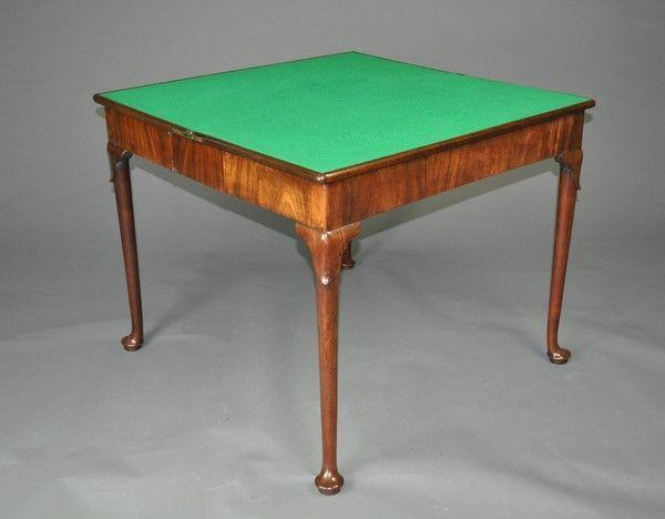 Matched pair of George II Card Tables