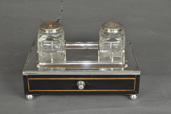 Old Sheffield Plate Ink Stand