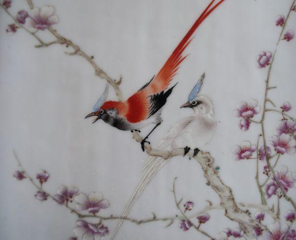 Pair of 20th century Chinese porcelain plaques