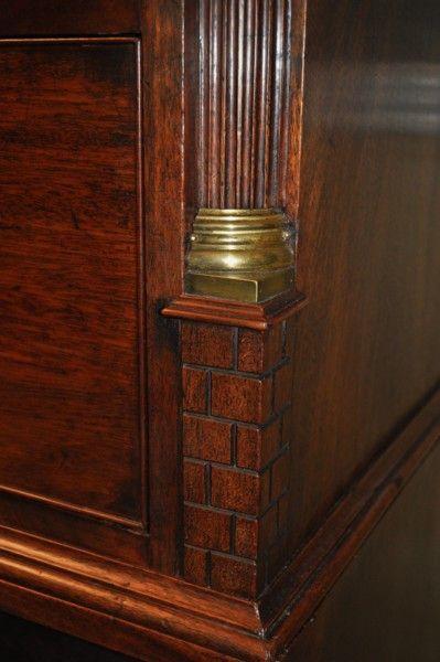 Rare Chippendale Period Inverted Linen Press