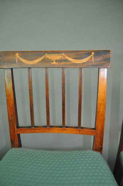 Set of four inlaid Dutch Chairs