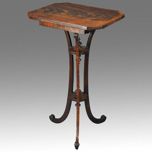 Unusual Late 18th century Tripod Table on Triform Base