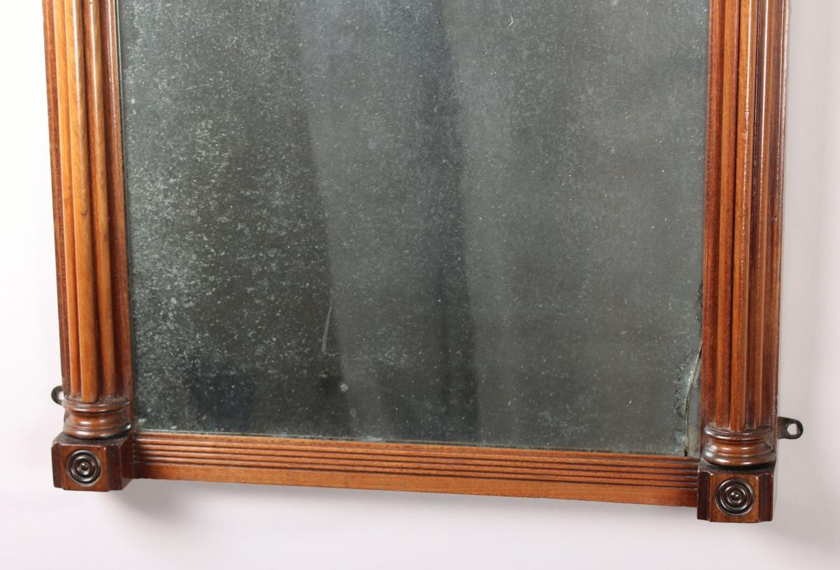 George IV period mahogany small pier glass