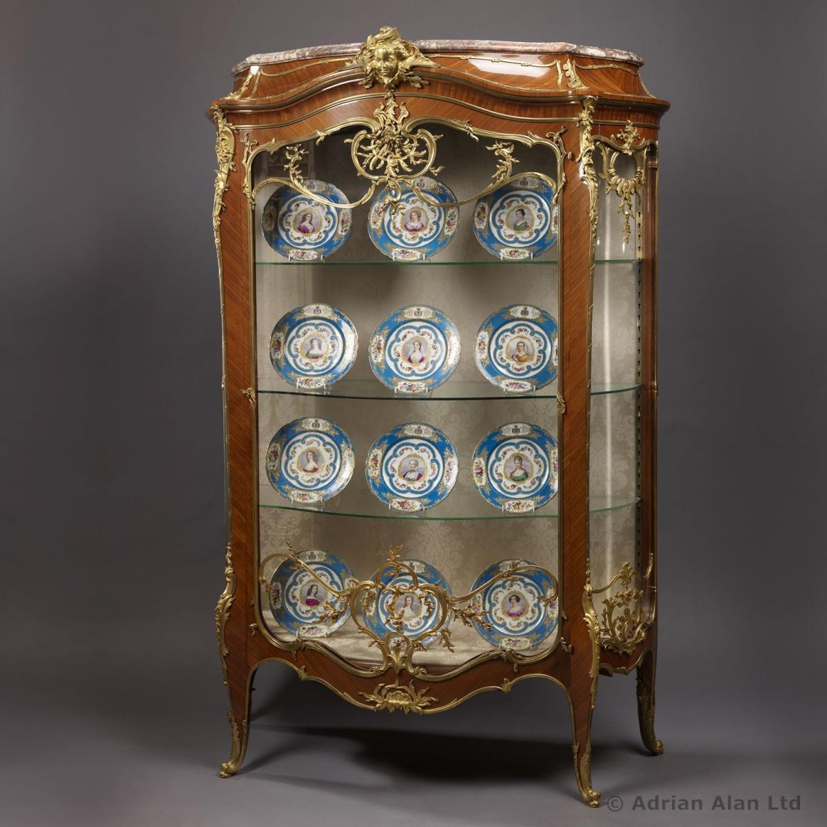 An Important Louis XV Style Exhibition Bombé Vitrine by François ...