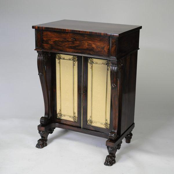 Regency Rosewood Secretaire Side Cabinet Chiffoneer Christopher