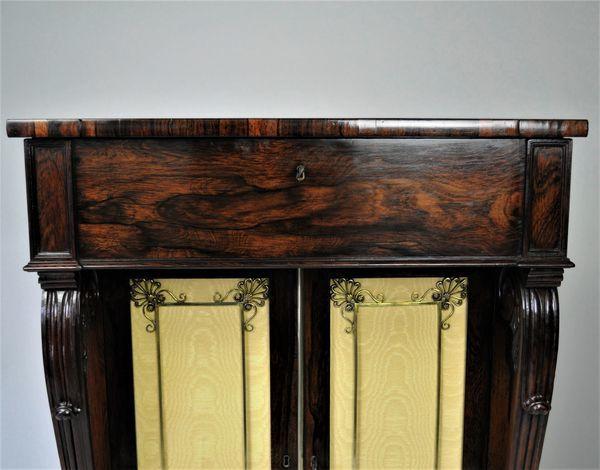 Regency Rosewood Secretaire Side Cabinet/Chiffoneer