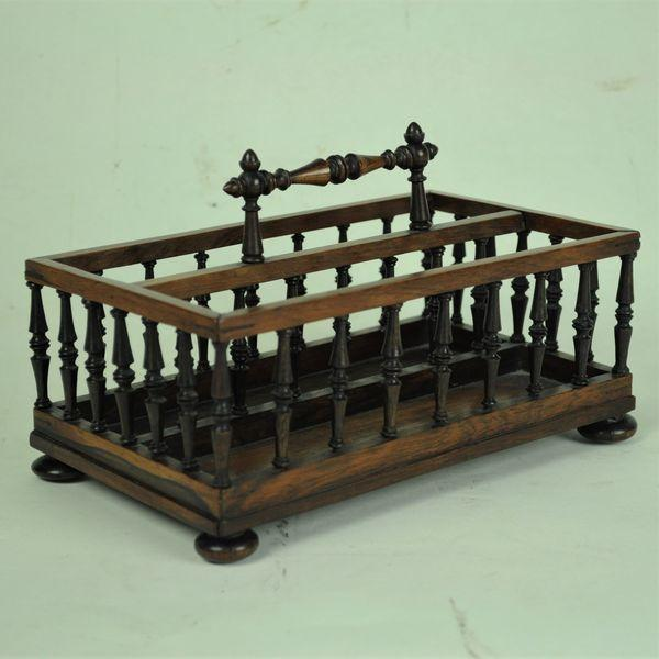 Rosewood spindle Letter Rack