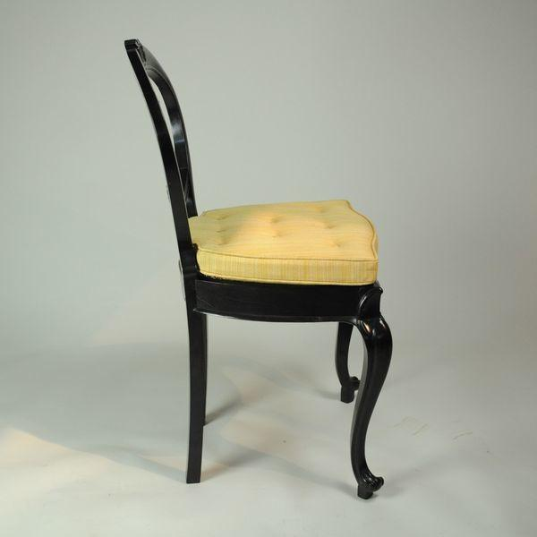 Set of Six Anglo Ceylonese Ebony Dining Chairs