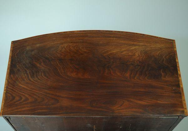 Small bow fronted mahogany Chest of Drawers