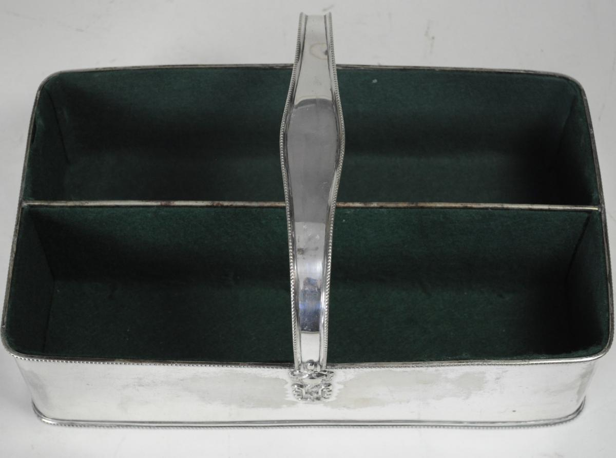 Silver plated Wine Bottle Carrier