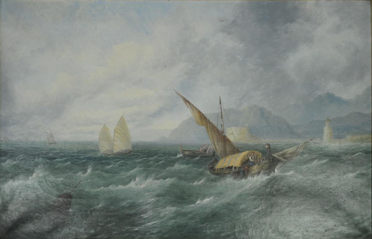 Sydney Herbert 1854-1915, Straits of Messina, Sicily