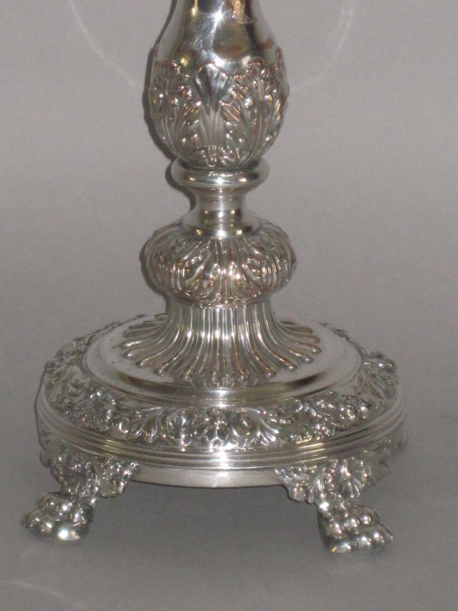 old sheffield plate silver candelabra