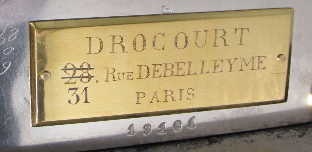 19101 Drocourt plaque