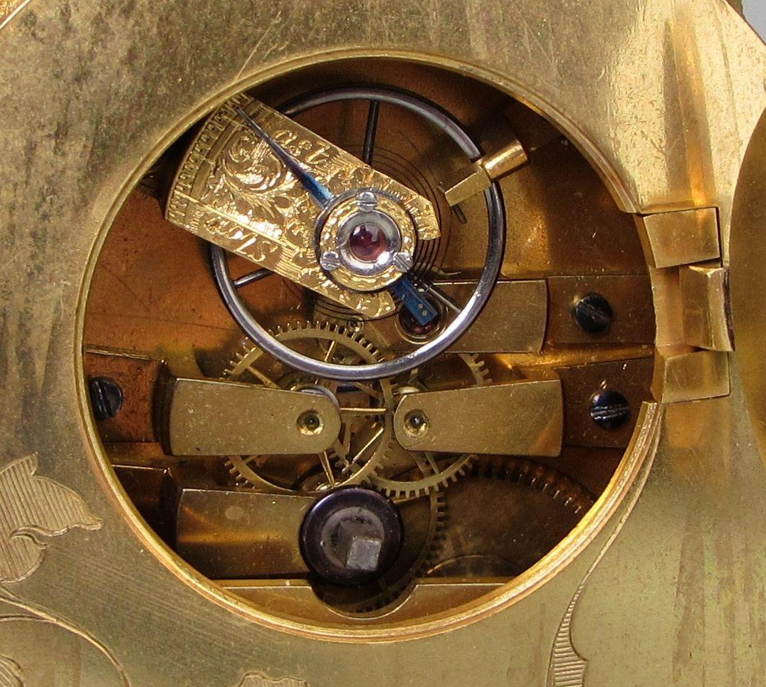 Thomas Cole strut clock escapement