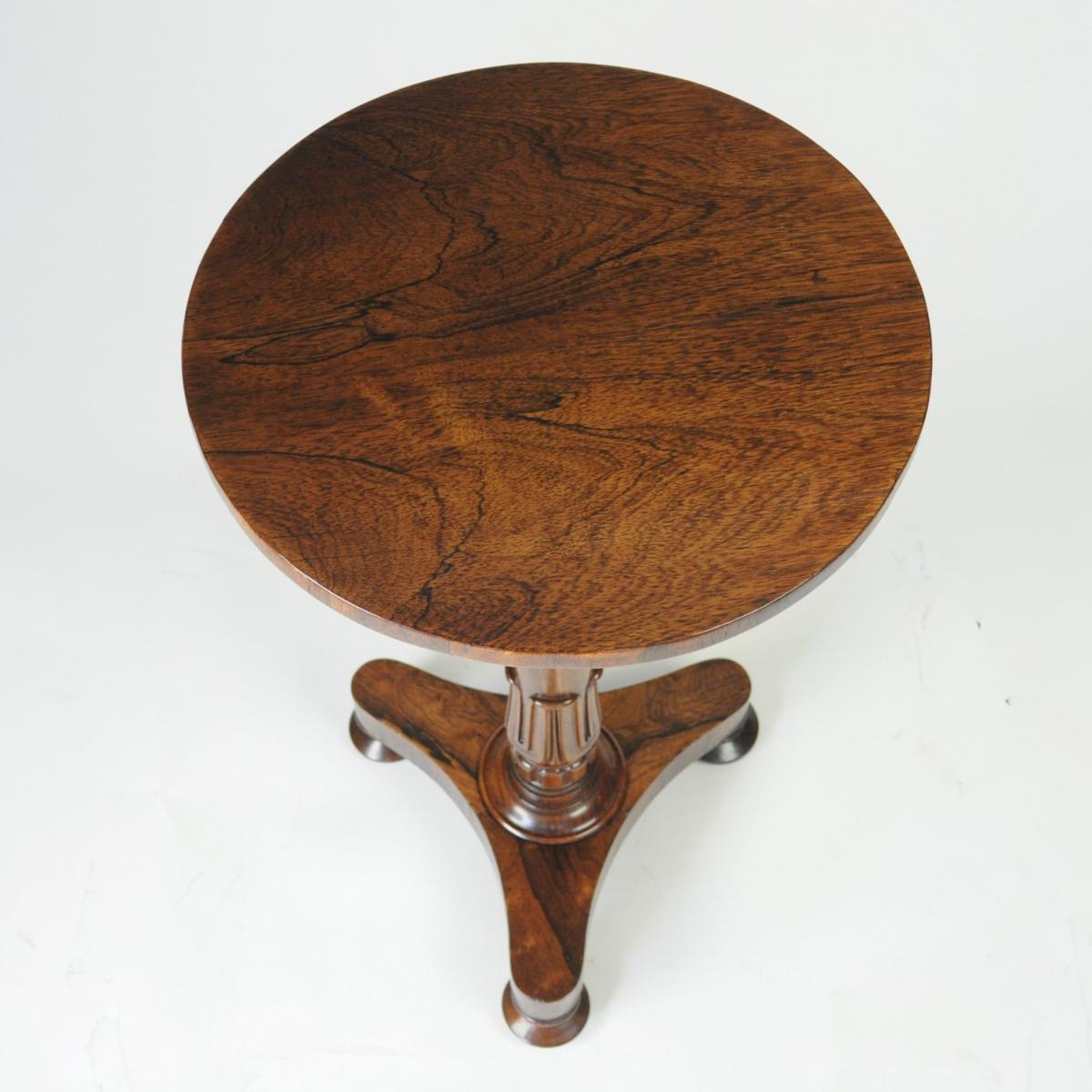 Rosewood Circular Lamp Table