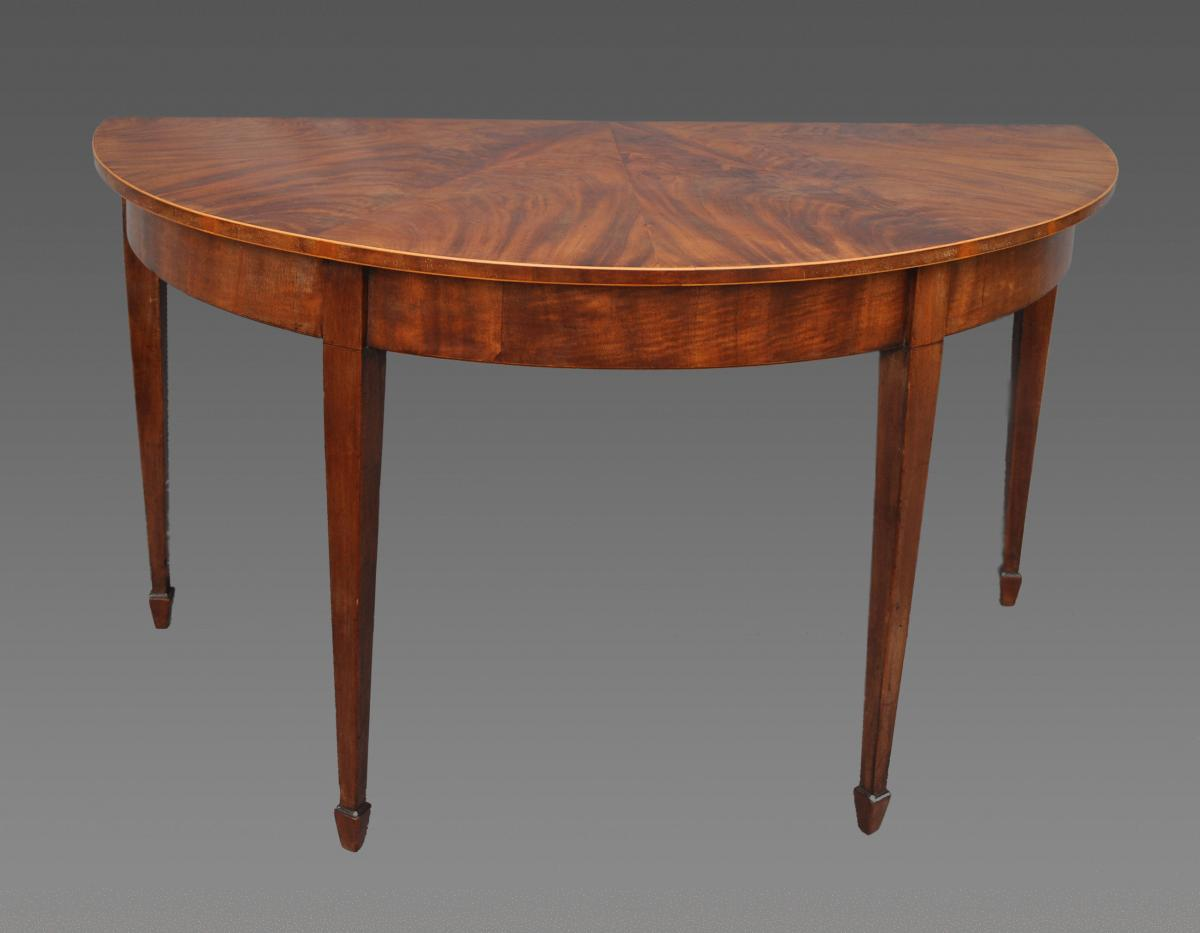 Pair of George III Segmented Top Console Tables
