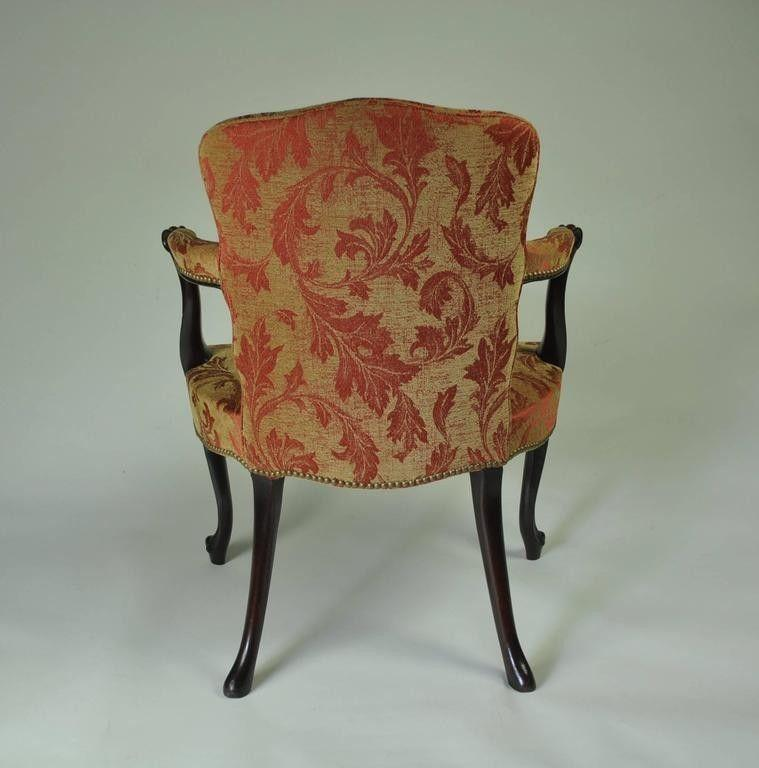 Hepplewhite Mahogany Salon Chair