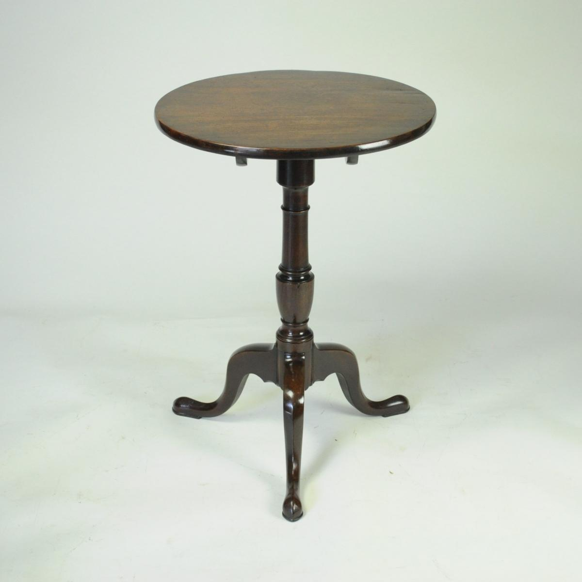 Small George III Mahogany Circular Tripod Table
