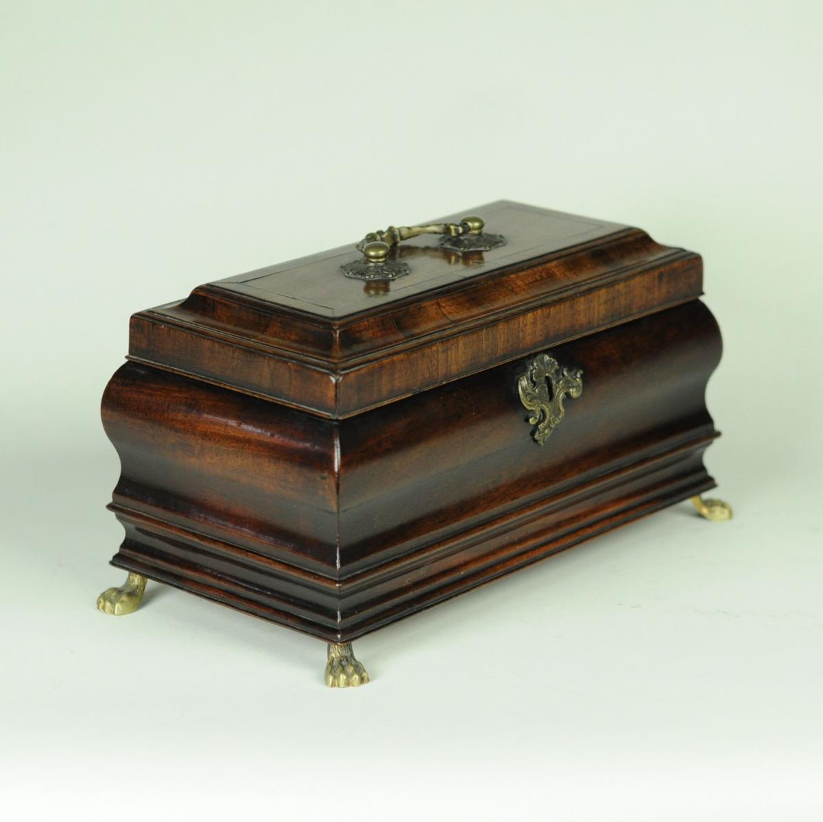 mid 18th century bombé shaped Tea Caddy