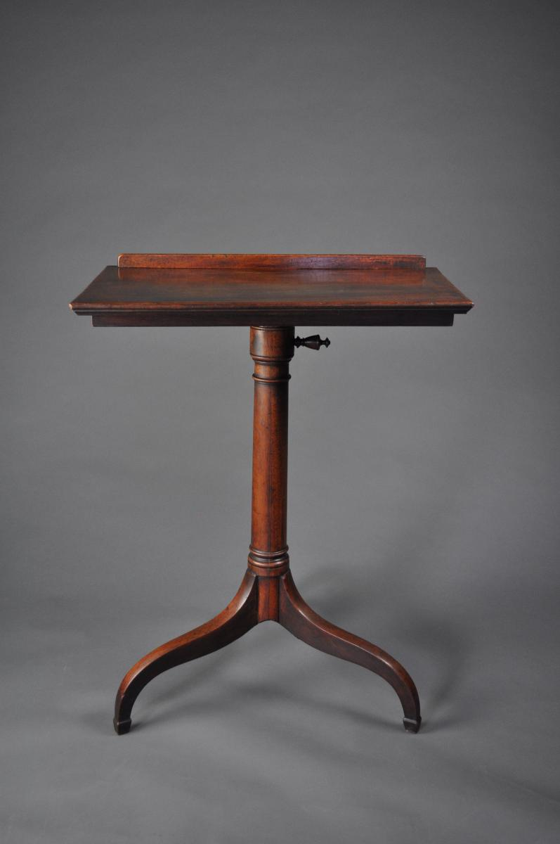 Georgian mahogany Lecturn/Reading Stand on tripod base