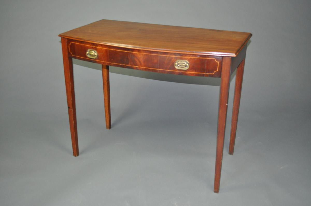Early 19th Century biw front mahogany side table