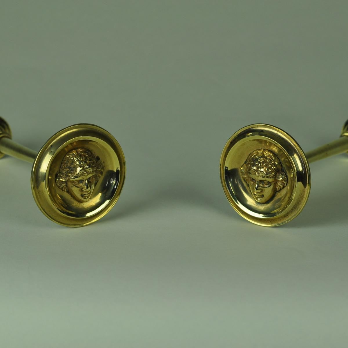 Pair of brass Curtain tiebacks
