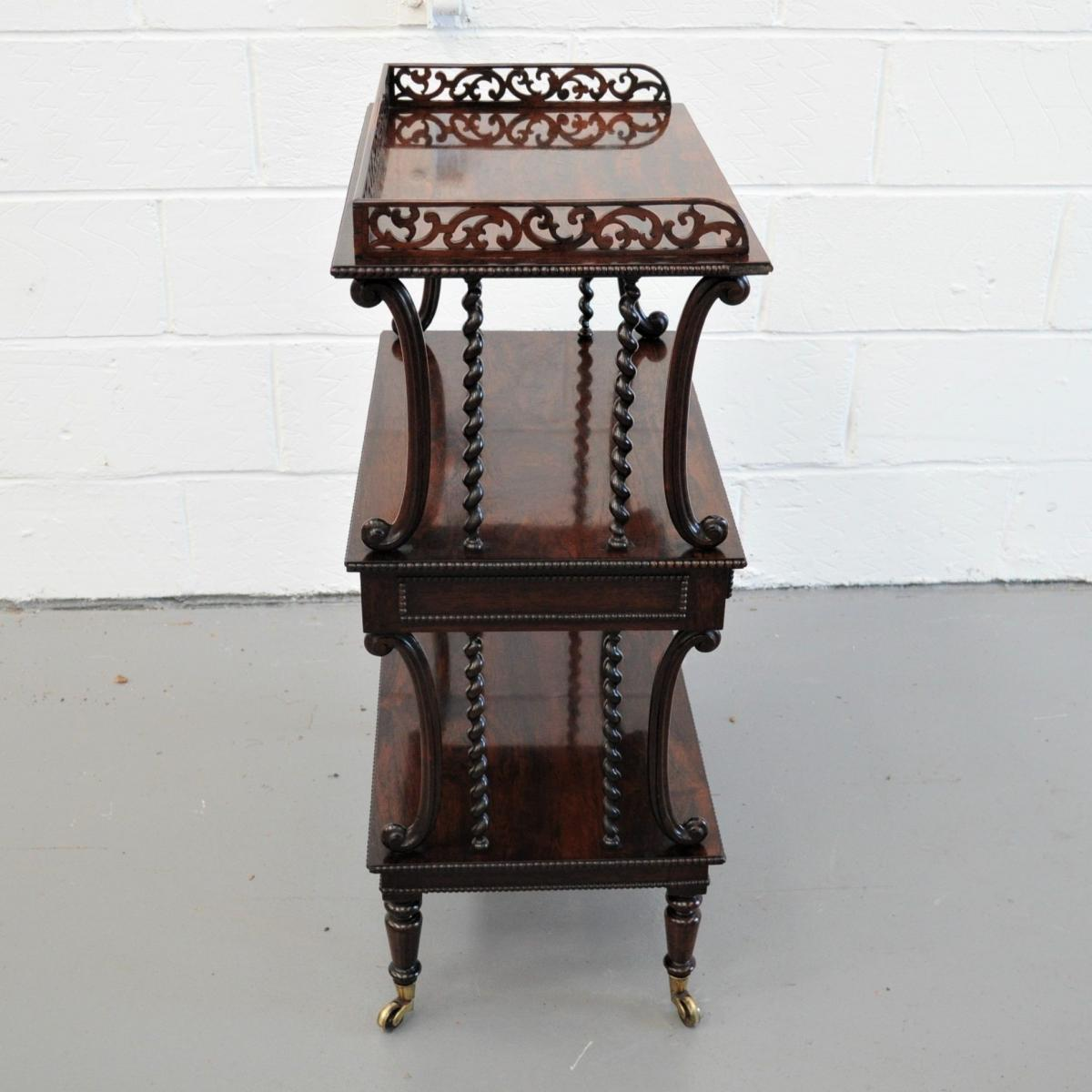 Rare and unusual Regency Etagere